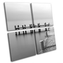 Wooden jetty Sunset Seascape - 13-0390(00B)-MP01-LO